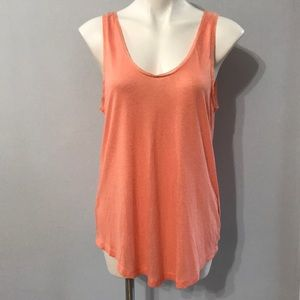 H&M • NWOT Coral tank top with crocheted edging